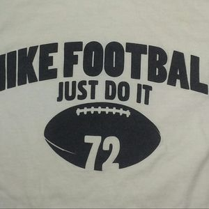 Vintage Nike Football 72 Just Do It t shirt